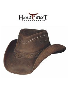 Bullhide Leather Cowboy Hat Burnt Dust