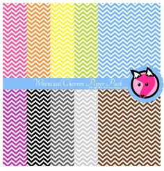 INSTANT DOWNLOAD - whimsical chevron digital paper pack - preppy background - card making - invitation - printable papers.