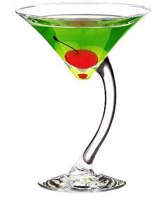 Georgi Sour Apple Martini/ 3oz. Georgi Green Apple Flavored Vodka/ 2oz. Llord's Sour Apple Schnapps/ 1oz. Llord's Melon Liqueur/ Splash of Sour mix/ Garnish with Cherry