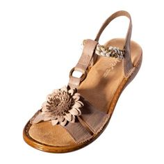 Rieker Womens Ladies 60888 60 Regina Beige Leather Slingback Sandal 9304e37840