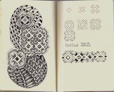 Life Imitates Doodles: New Tangle Pattern Fortified/Rhodia Journal Swap