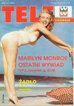 Tele Program - July 29th 1994, magazine from Poland. Front cover photo of Marilyn Monroe by Andre de Dienes, 1949.