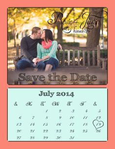 Save the Date | Calendar Save the Date Design | Mint & Coral Wedding | Joe R Geske Photography | Kansas City Wedding Photographer | Kansas Wedding & Engagement Photographer