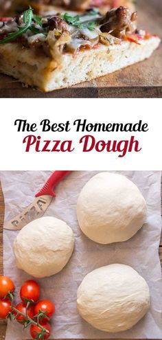 The best homemade pizza dough recipe you will ever make, never another store bought pizza dough again. Perfect with any pizza topping! Best Pizza Dough, this easy recipe will become your favorite go to for pizza night. Thick or thin crust you decide - it's always perfect. #pizza #dough #Italian #dinner