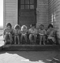 Reading Lesson, Ontario, Oregon 1939. Dorothea Lange
