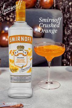 Smirnoff Flavors, Best Vodka Cocktails, Cocktail Drinks, Martinis, Booze Drink, Party Drinks Alcohol, Alcohol Drink Recipes, Orange Vodka, Alcholic Drinks