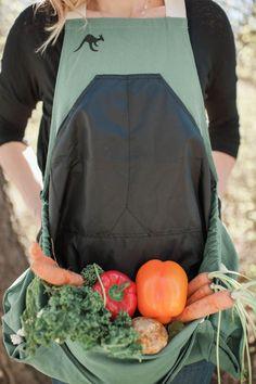 Roo Gardening Apron / Harvesting Apron / Garden Tools / Gifts for the Gardener   The Roo Gardening Apron   Pinterest