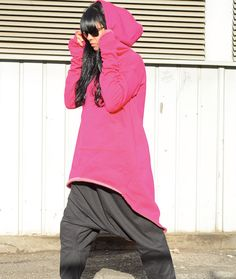 FUXIA Extravarant Maxi  Hoodie / Quilted Cotton by KOTYTOstyleLAB