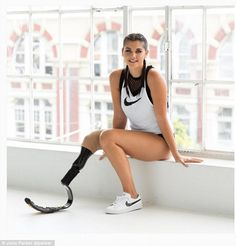 Jess Quinn, 23, is setting out to change perceptions about body image after losing her leg to bone cancer when she was nine years old