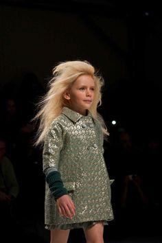 Wonderful brocade 60's retro inspired coat from the children's fashion range of Twin-Set by Simona Barbieri