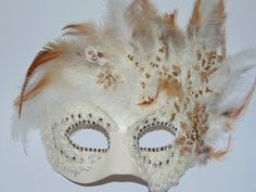 Venetian mask. Lady Feather