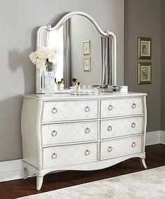 Look at this #zulilyfind! Angela Six-Drawer Dresser & Wood Arc Mirror #zulilyfinds