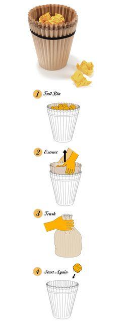cesto de papel reciclado