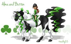 Horseland+Alma+and+Button | Alma and Button by audry22
