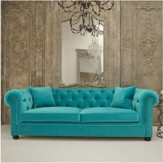 Berkley Aurora Sofa - From £1160 Normally something this beautiful leaves you speechless but the Aurora has produced more adjectives than any other piece in our showroom. Named after the spectacular Northern lights of the Aurora Borealis, the Berkley's comfort and elegance takes you to another level. Deep buttoned luxury designer sofa with chic, hand studded arms and enveloped in hand melting velvet makes the Aurora our favourite indulgence. We almost don't want it to leave!