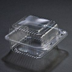 """Duralock 5"""" x 5"""" x 3"""" Deep Clear Hinged Lid Plastic Container 500 / Case"""