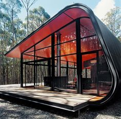 The holiday house in Daylesford, Victoria, Australia - designed by architect Jesse Judd via yellowpelow.com.