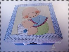 Kit de toalhinha e caixa para bebe | Gisele Cristina Santos Zorzato | 2AD697 - Elo7