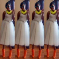 #Stylebyelle #PopColors #Tutu #Styleinspiration #FashionInspiration #Style #Fashion #Orange #Lime #White #colors #Inspiration @stylebyelle