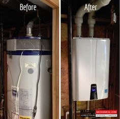 Boiler installation before and after. Learn more about our services at  #Magtek
