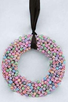 An Easter candy wreath! Dollar Store, here I come!