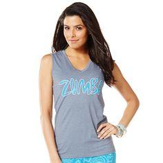 Zumba Fitness Soft-N-Sleeveless V-Neck - Grey's the Way | Global Z Fitness #zumba #zumbaclothes #zumbafashion
