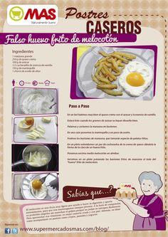 Falso huevo frito de melocotón