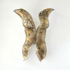 Metal wall art sculpture – abstract torso – sexy nude metal torso – wire mesh sculpture by:-nuntchi