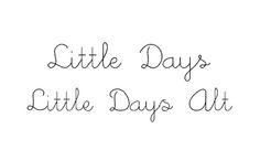 little days font - Buscar con Google