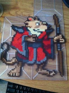 TMNT Master Splinter perler beads by Khoriana on deviantART