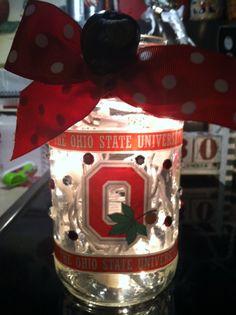 Ohio State Lighted Jar