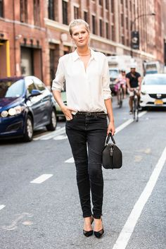 Toni Garrn on New York's streets