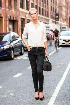 Toni Garrn on New York's streets