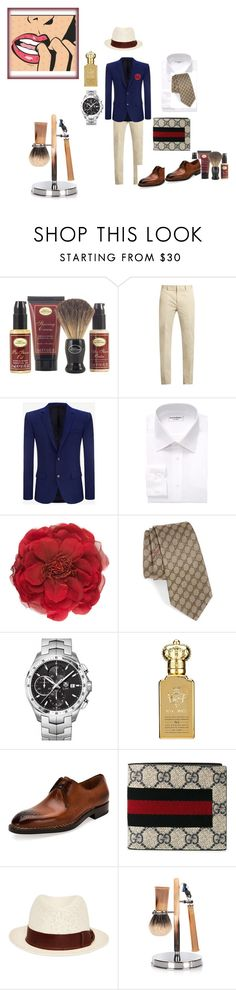 """""""The man"""" by betty-jean on Polyvore featuring The Art of Shaving, Calvin Klein Collection, Alexander McQueen, Yves Saint Laurent, Gucci, TAG Heuer, Clive Christian, Salvatore Ferragamo, Giorgio Armani and Cedes"""