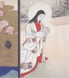 Madonna of the Cherry Blossoms, painted by the Carmelite nuns of the Holy Trinity convent in Tokyo.