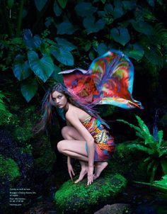 hermes spring 2014 campaign3 Diana Moldovan & Yumi Lambert Star in Hermès Spring/Summer 2014 Campaign