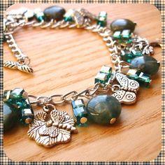 Teal Woodland Charm Bracelet £10.00