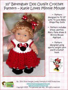 Minnie Mouse Berenguer Doll Dress Crochet Pattern