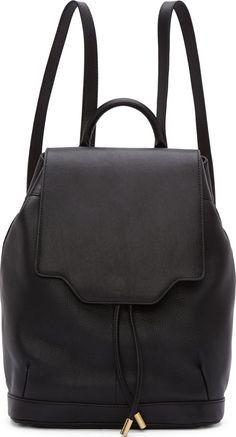 94acf494622f Rag And Bone Black Leather Pilot Backpack Soft Leather Handbags