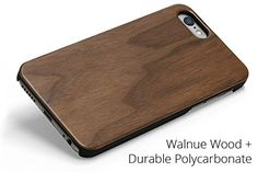 Woodland Mobile Phone Case for iPhone 6 Plus (Walnut). Protects the phone from all angles, sides, and corners. Real wood or bamboo affixed to a black polycarbonate clipper case - get the real wood look without worrying about splitting. Full access to all ports, buttons, and controls. Super thin profile with genuine wood. Optional customization with laser etching or full color printing.