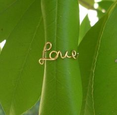 DIY idea: Love ring