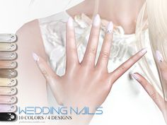 Wedding Nails by Pralinesims at TSR • Sims 4 Updates