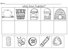 Free! Printables....Go Togethers Pre-K and K