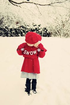 #snow #red #photography #kids #sweet