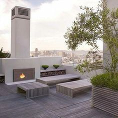 Roof Deck. this is if i don't end up having a pitched roof | The best rooftop design ideas for your home! See more inspiring images on our board at http://www.pinterest.com/homedsgnideas/rooftop-design-ideas/ #RooftopGarden