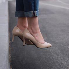 Rockport Total Motion, Pointed Toe Heels, Low Heels, Kitten Heels, Pairs, My Style, Doodles, Nude, Shoes