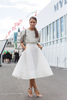 structured midi skirt More