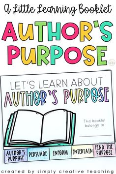 Use this little learning booklet to reinforce the author's purpose in your 1st, 2nd, or 3rd grade classroom! Students will love filling the PIE practice pages with their notes all about the author's purpose. This learning activity includes 2 cover options and fill-in pages for understanding, persuade, inform, entertain, and a cut & glue activity. This low-prep book is perfect for helping teach the author's purpose which is as easy as PIE with this engaging and fun resource. Get yours today!