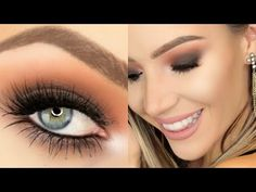 Warm Smokey Eye + Nude Lip (Hooded Eyes) | Stephanie Lange - YouTube
