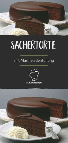 Sachertorte- You have never seen a better recipe for this classic! The dough becomes airy and light: chocolate cake with jam filling. You have never seen a better recipe for this classic! The dough becomes airy and light: chocolate cake with jam filling. Beef Pies, Mince Pies, Dessert Simple, Red Wine Gravy, Flaky Pastry, Breakfast Buffet, Halloween Desserts, Easy Desserts, Pudding Desserts